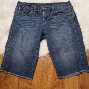 Lucky brand burmuda cut off shorts